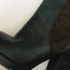 Fly London Shoes - Fly London Mezafly Teal Leather Ankle Boots 6.5